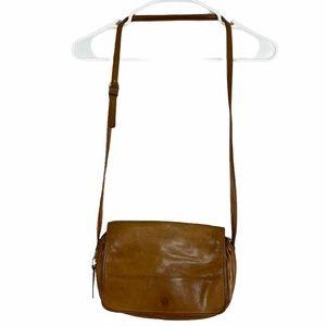 Wilsons leather crossbody bag camel tan
